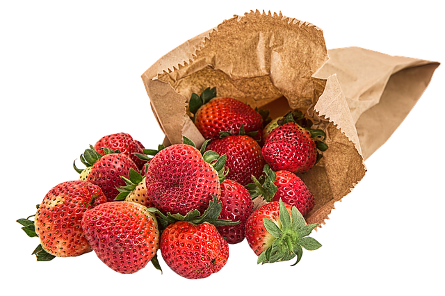jahody v sáčku