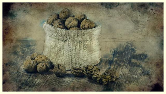ořechy v pytli